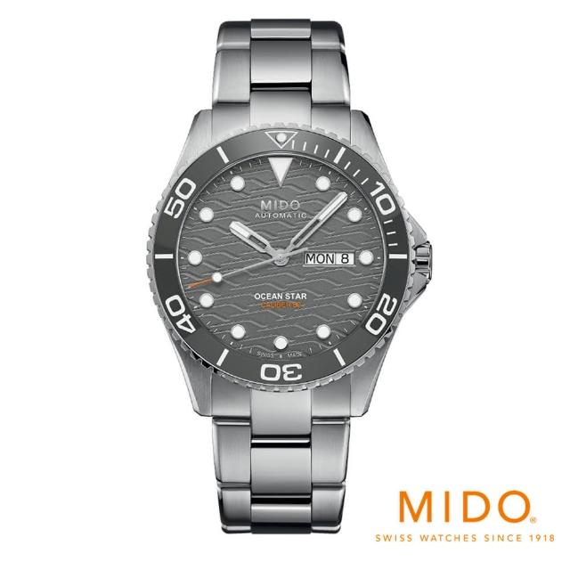 【MIDO 美度】官方旗艦館 Ocean Star 海洋之星200米陶瓷圈腕錶(M0424301108100)