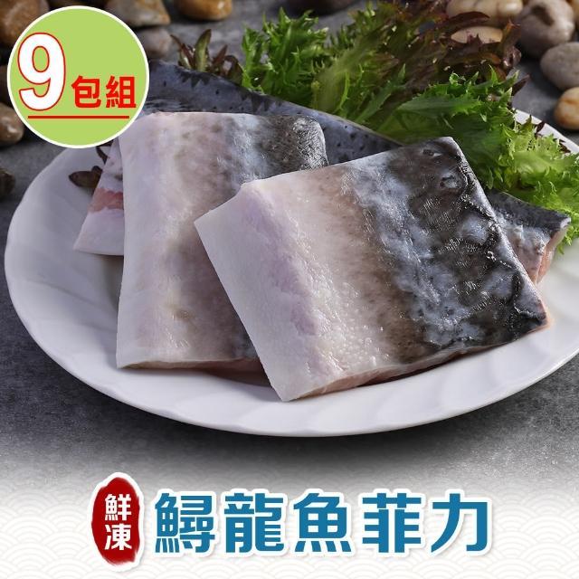 【愛上海鮮】鮮凍鱘龍魚菲力9包組(200g±10%/包)