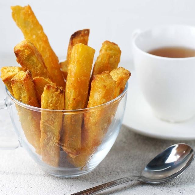 【海之醇】黃金脆皮地瓜薯條-5包組(500g/包)