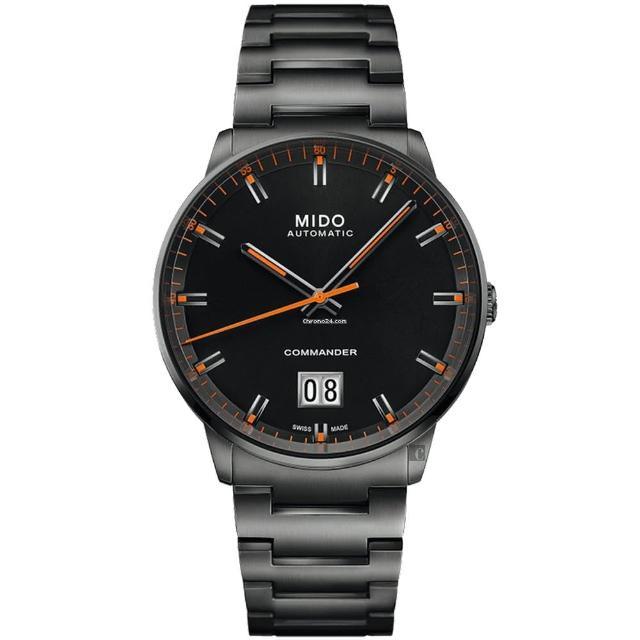 【MIDO 美度】COMMANDER 香榭系列大日期機械錶-42mm(M0216263305100)