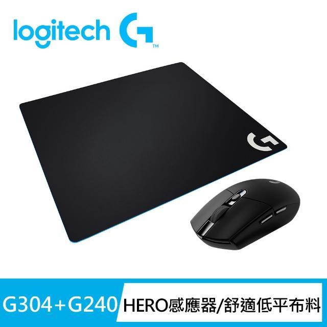 【Logitech G】G304 無線電競滑鼠(黑色)+G240布面滑鼠墊
