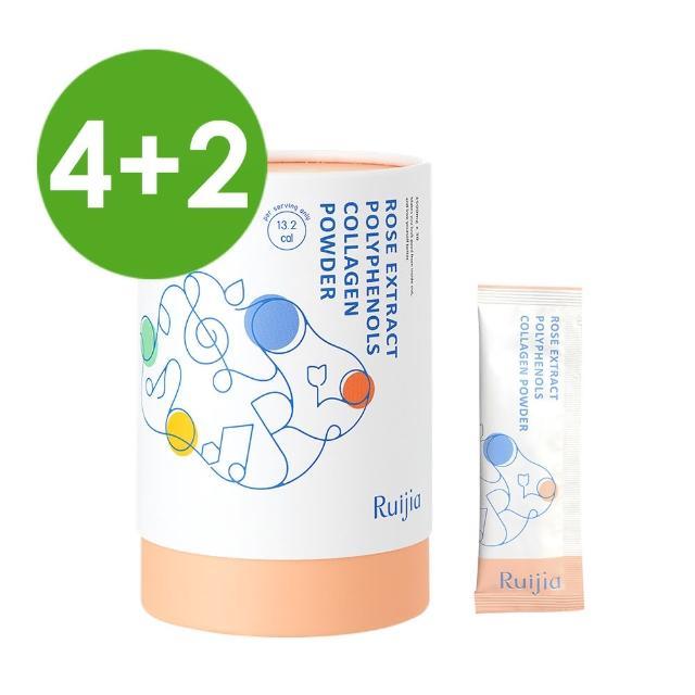 【RUIJIA 露奇亞】專利玫瑰多酚膠原蛋白粉 30包x6罐(自信容光好氣色)