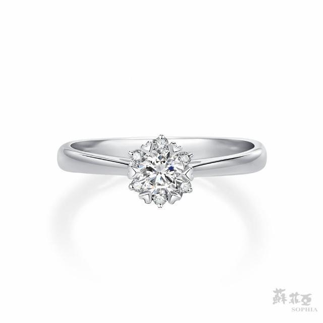 【蘇菲亞珠寶】費洛拉 GIA 0.30克拉D_SI1 18K白金 鑽石戒指