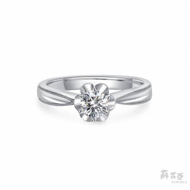【蘇菲亞珠寶】瑪格麗特 GIA 0.30克拉D_IF 18K白金 鑽石戒指