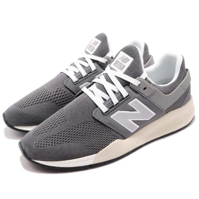 【NEW BALANCE】休閒鞋 MS247MMD 低筒 運動 男鞋 紐巴倫 襪套 球鞋 舒適 經典款 穿搭 灰 銀(MS247MMD)