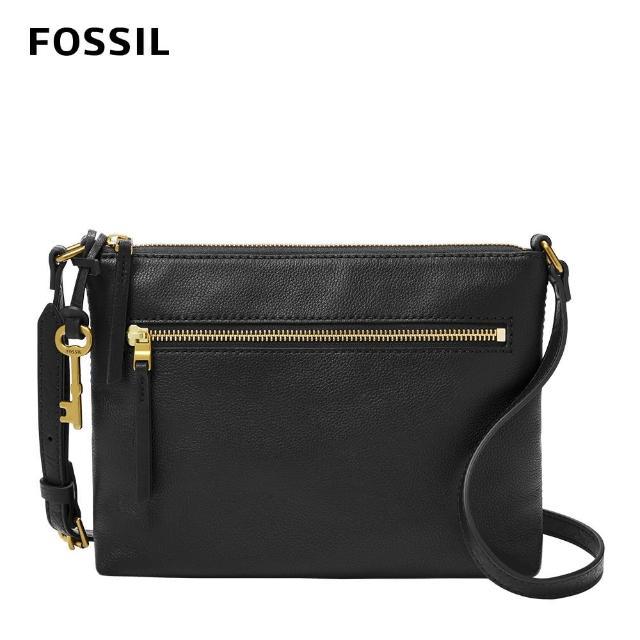 【FOSSIL】Fiona 真皮輕便休閒斜背包-黑色 ZB1542001(可拆式內袋)