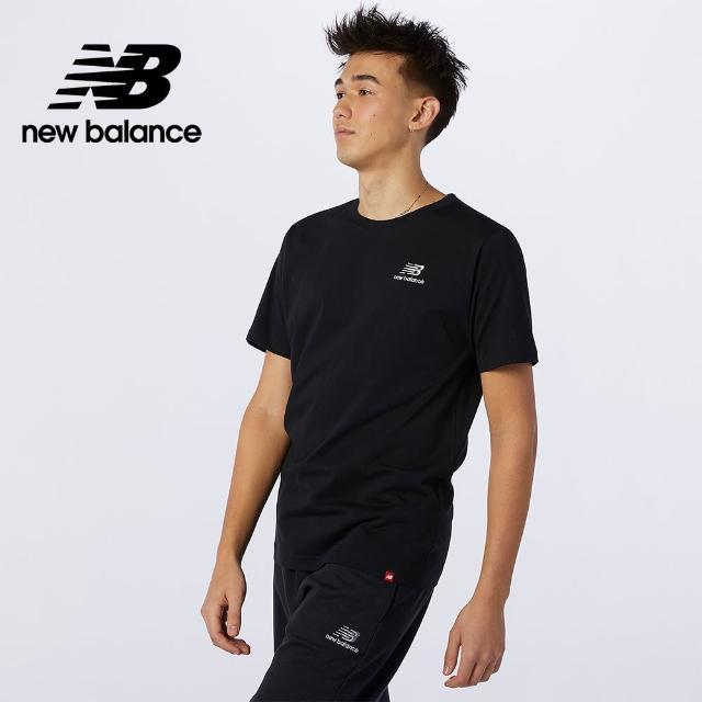 【NEW BALANCE】NB 左胸NB短袖T_男款_黑色_MT11592BK(美版)