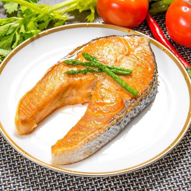 【鮮綠生活-送剖半鮭魚頭】超厚智利鮭魚切片(330g±10%/片 共10片)
