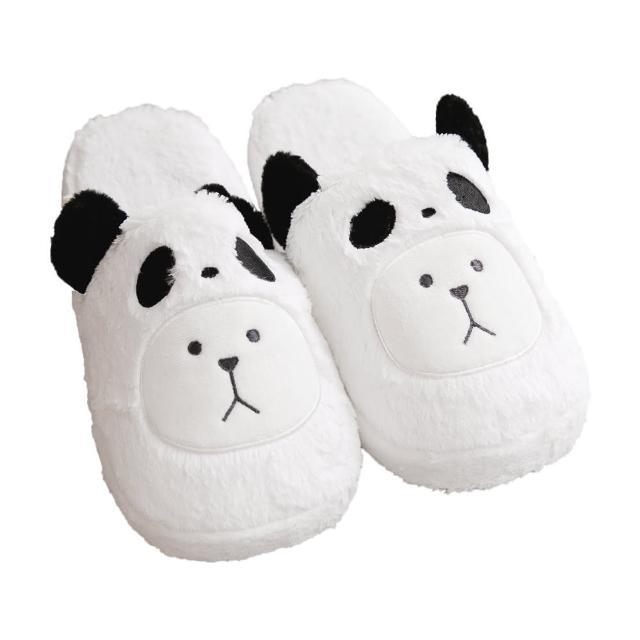 【CRAFTHOLIC 宇宙人】黑熊貓熊熊室內拖鞋(熊貓Q版系列)