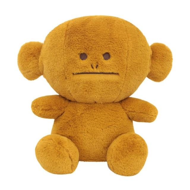 【CRAFTHOLIC 宇宙人】馬卡龍芥末黃猴坐姿大抱枕(馬卡龍系列)
