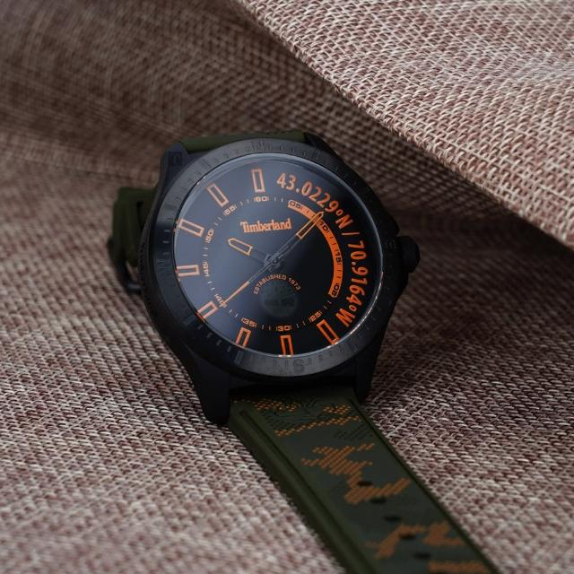 【Timberland】軍事風迷彩大三針手錶-43.5mm(TDWGM2101401)