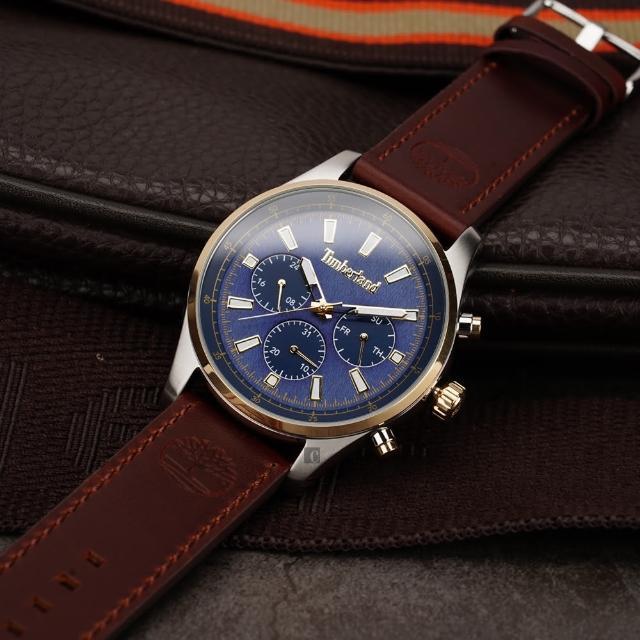 【Timberland】多功能日期手錶-46mm(TDWGF2100403)