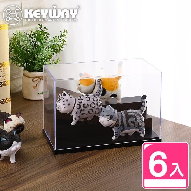 【KEYWAY】公仔展示盒L-6入(公仔陳列盒 公仔收納盒 MIT台灣製造)