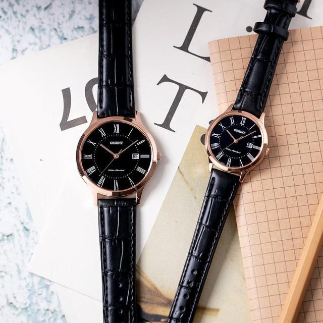 【ORIENT 東方錶】羅馬時尚手錶 對錶-38x34mm(RF-QD0007B+RF-QA0007B)