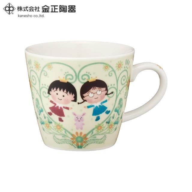 【櫻桃小丸子】日本金正陶器 櫻桃小丸子馬克杯 草原 270ml(日本製 日本原裝進口瓷器)