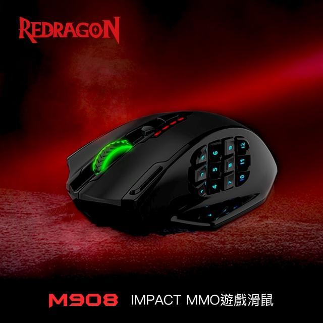 【Redragon】Redragon M908 IMPACT MMO遊戲滑鼠(電競滑鼠推薦/電競週邊/遊戲滑鼠/有線滑鼠)