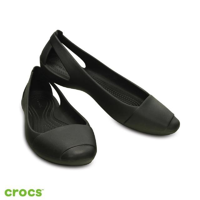 【Crocs】女鞋 女士仙安娜平底鞋(202811-001)