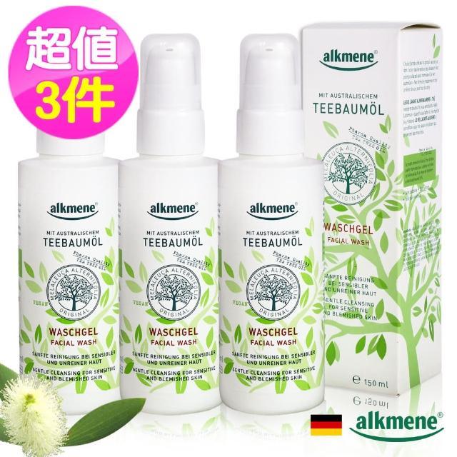 【Alkmene 草本耀典】茶樹精油淨白控油潔顏露150ml(超值3入)