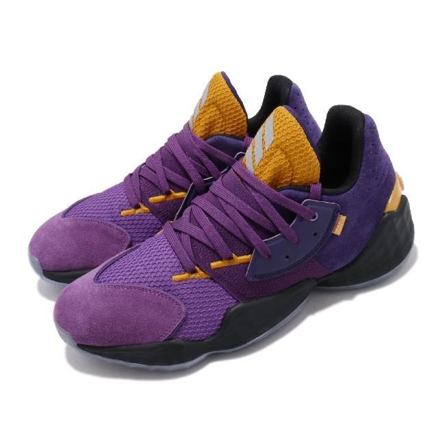 【adidas 愛迪達】籃球鞋 Harden Vol.4 GCA 運動 男鞋 愛迪達 哈登 大鬍子 NBA球星 透氣 紫 黃(FW7496)