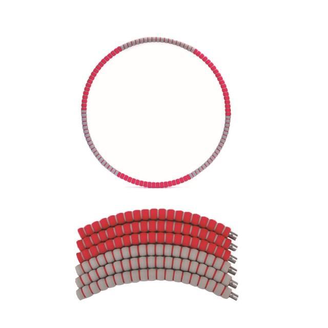 【PUSH!】拼接式鋅合金鋼管泡棉可調節加重設計呼拉圈瘦腰圈健身器材(兒童呼拉圈H27加重款)