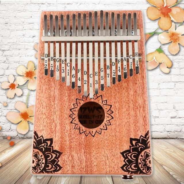 【美佳音樂】Kalimba 卡林巴琴/拇指琴-超值全配.17音EQ桃花芯木單板-星辰花(贈旅行包/音箱)