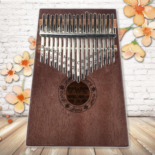【美佳音樂】Kalimba 卡林巴琴/拇指琴-超值全配.17音桃花芯木單板-復古色(贈旅行包)