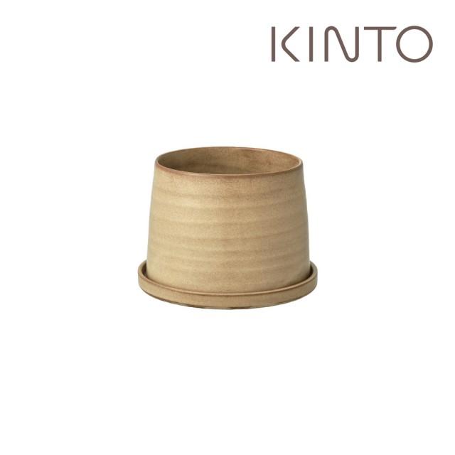 【Kinto】PLANT POT 192 陶瓷花盆11cm-米