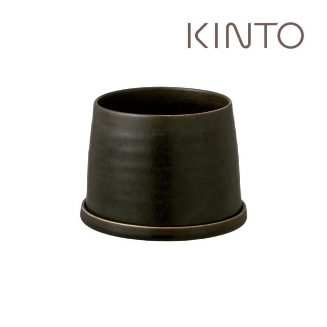 【Kinto】PLANT POT 192陶瓷花盆12.5cm-黑