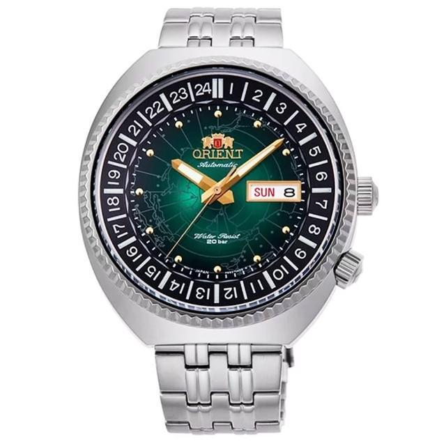 【ORIENT 東方錶】東方WORLD TIME 世界時間機械男錶(RA-AA0E02E)
