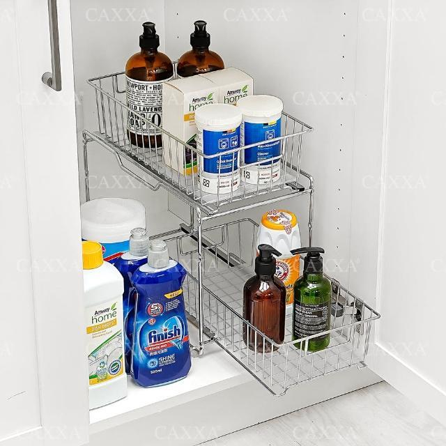 【CAXXA】廚房浴室水槽下抽屜式收納架置物架(水槽下收納架/廚房置物架/抽屜式置物架)