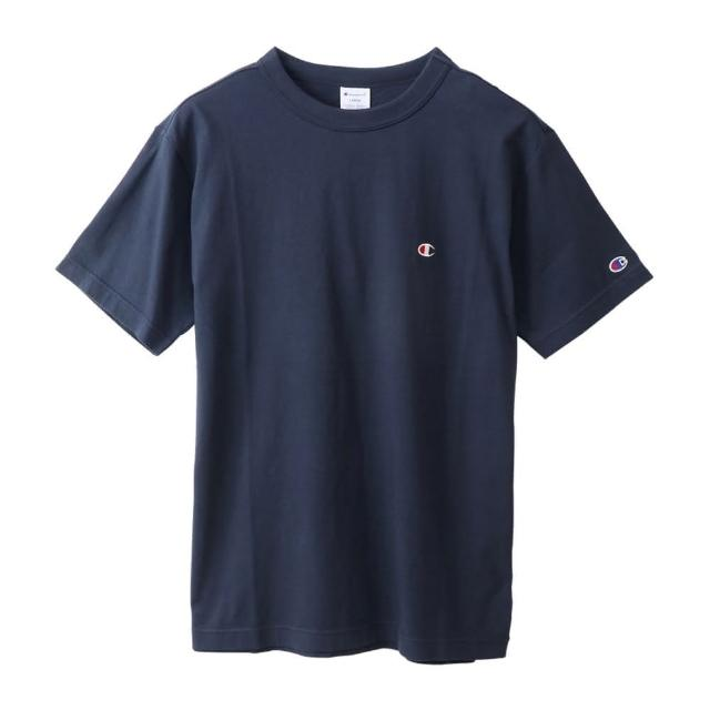 【Champion】BASIC T-SHIRT 男女款深藍色小LOGO短袖上衣-NO.C3-P300-370