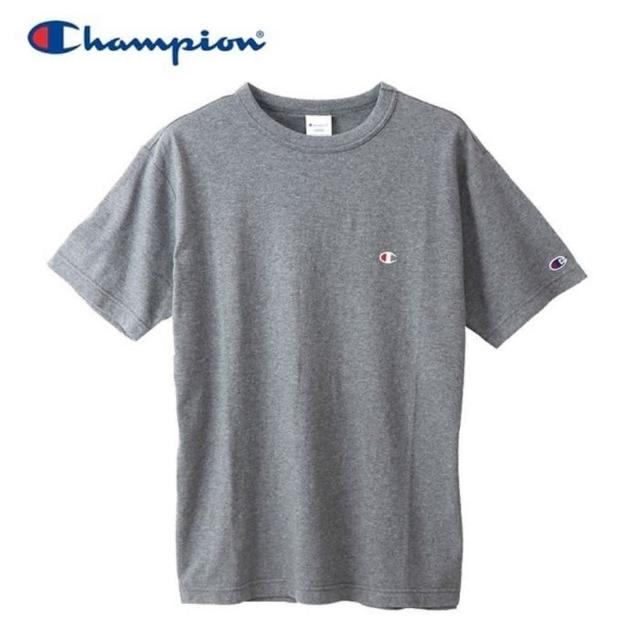 【Champion】BASIC T-SHIRT 男款灰色小LOGO短袖上衣-NO.C3-P300-089