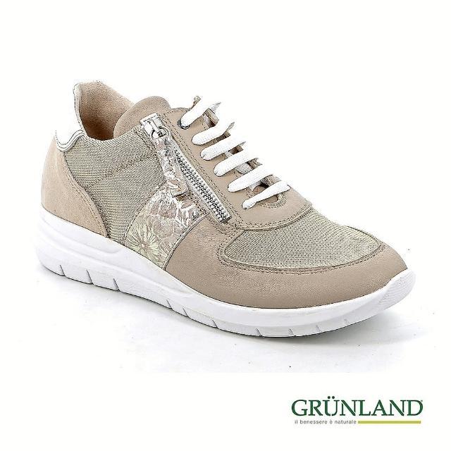 【GRUNLAND】義大利機能拇指外翻彈力吸濕透氣休閒鞋 藕膚粉(義大利進口健康舒適鞋 限量款)