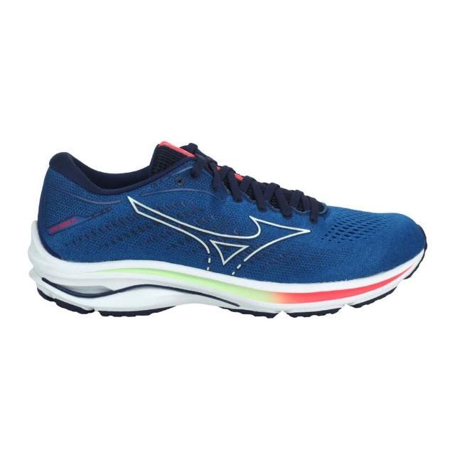 【MIZUNO 美津濃】WAVE RIDER 25 男慢跑鞋-路跑 運動 避震 美津濃 藍綠橘(J1GC210325)