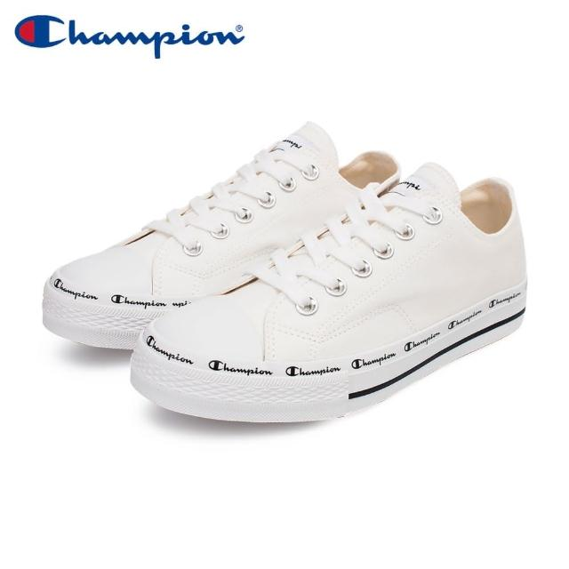 【Champion】CLASSIC CP CANVAS 男女中性款白色低筒帆布鞋-NO.USLS-1013-00