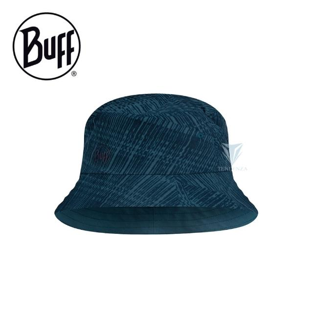【BUFF】BF122590 可收納漁夫帽 - 暗藍刷紋(BUFF/可收納漁夫帽/戶外帽)
