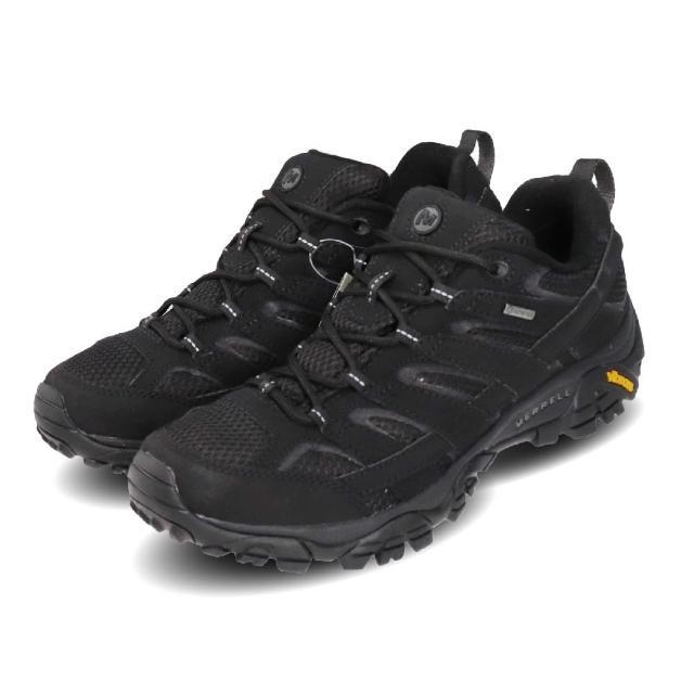 【MERRELL】戶外鞋 Moab 2 GTX 運動 男鞋 登山 越野 耐磨 黃金大底 防潑水 穩定 黑 灰(ML599613)