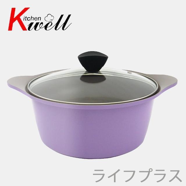 韓國Kichenwell陶瓷不沾雙耳湯鍋-24cm