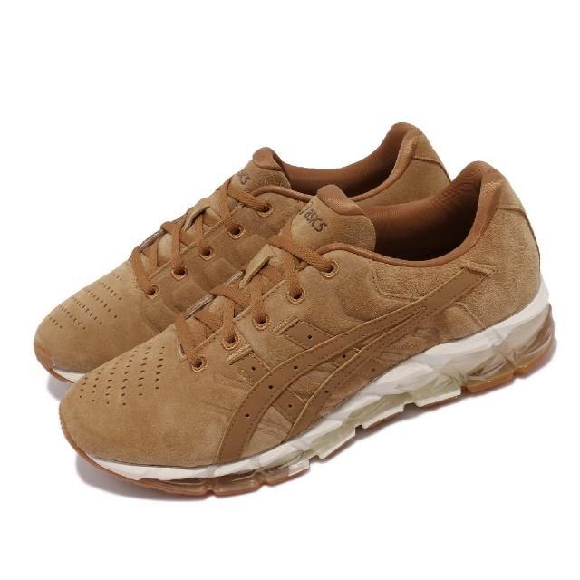 【asics 亞瑟士】慢跑鞋 Gel-Quantum 360 5 男鞋 亞瑟士 運動休閒 麂皮 穿搭推薦 棕 白(1021A414200)
