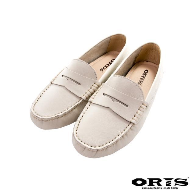 【oris 帆船鞋】海鷗鏤空紳士休閒鞋-杏-S1655N15(真皮/手工/休閒鞋/懶人鞋)