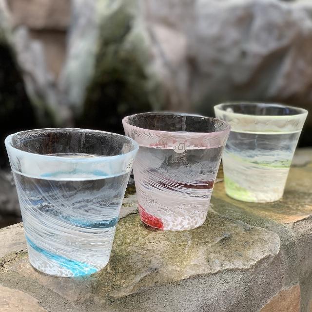 【ADERIA】日本津輕 水渦手作玻璃杯 3色 260ml(玻璃杯)