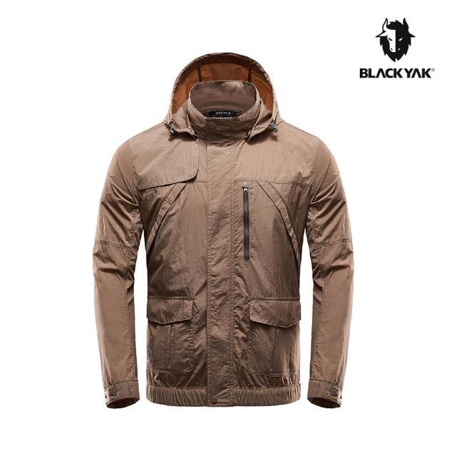 【BLACK YAK】男立領風衣外套[深卡其]BY161MJ006(韓國 春夏 防風外套 男外套)