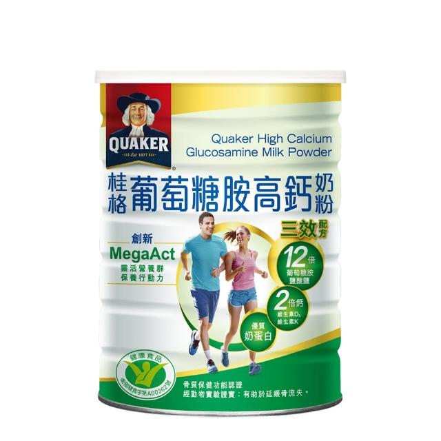 【QUAKER 桂格】葡萄糖胺奶粉1500g/罐(週期購用)