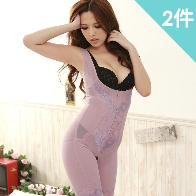 【魔莉莎】560丹瞬間S曲線雕塑縮腰提臀連身束衣2件組(W005)