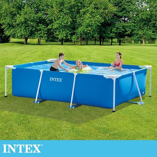 【INTEX】簡易裝長方型框架游泳池/戲沙池300x200x75cm_3834L(28272)