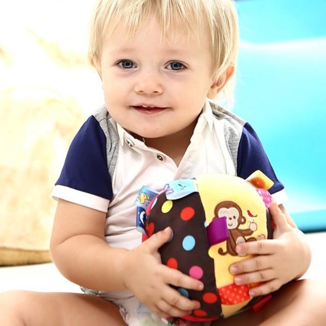 【JoyNa】2入-嬰兒益智手抓球 毛絨鈴鐺球