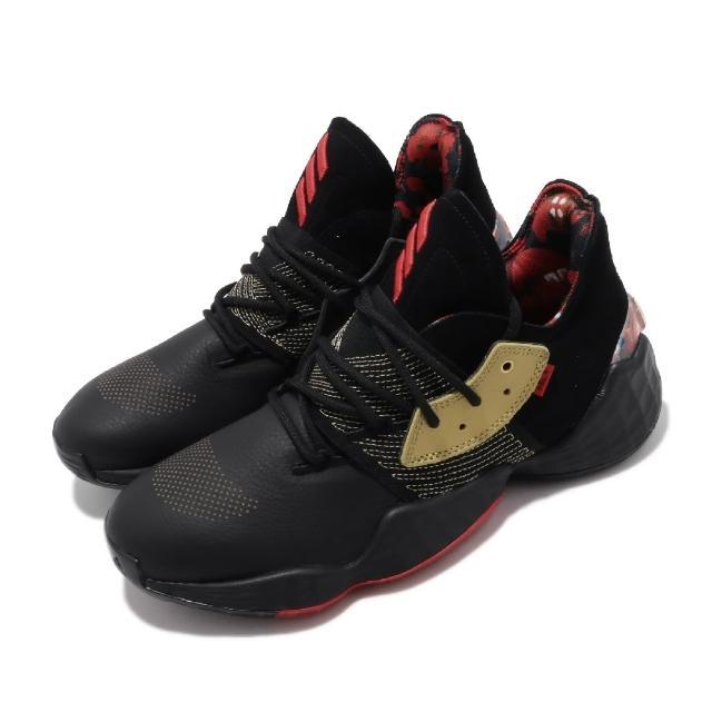 【adidas 愛迪達】籃球鞋 Harden Vol.4 GCA 男款 愛迪達 哈登 大鬍子 NBA球星款 黑 金(FW3136)
