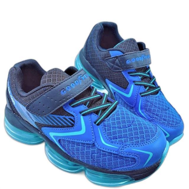 【樂樂童鞋】GOODYEAR童款大氣墊緩震運動-藍-G017(男童鞋 運動鞋 球鞋 布鞋 大童鞋)