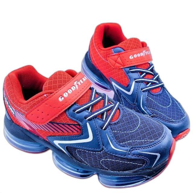 【樂樂童鞋】GOODYEAR童款大氣墊緩震運動-紅-G017-2(男童鞋 運動鞋 球鞋 布鞋 大童鞋)