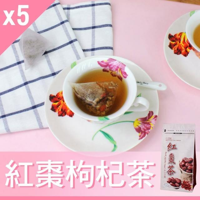 【Mr.Teago】紅棗枸杞茶/養生茶-3角立體茶包-27包/袋(5袋/組)